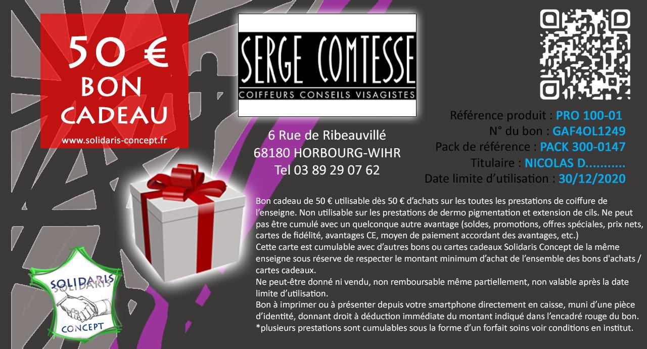Bon dAchat PRO FORMAT VERT SERGE COMTESS